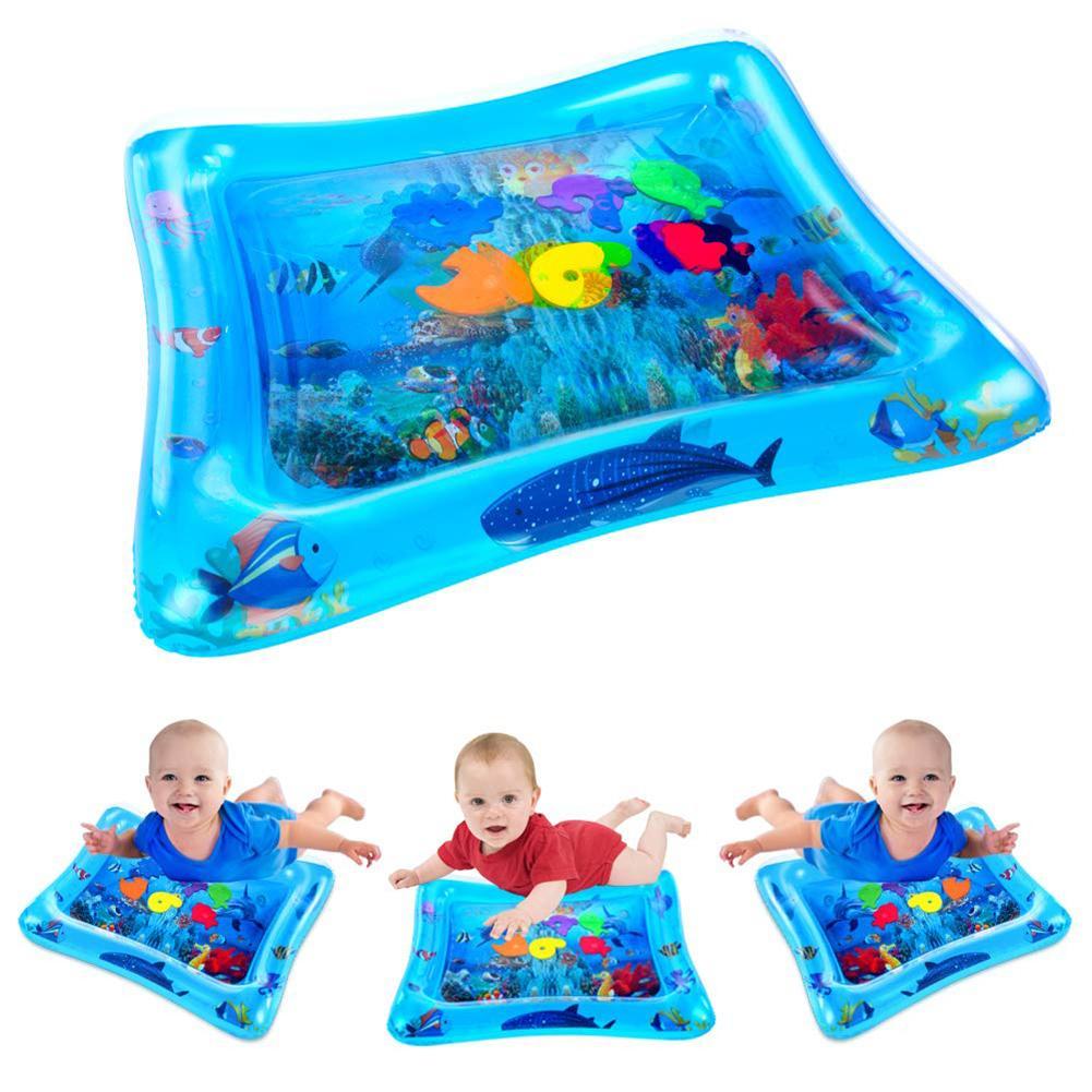 Baby Inflatable Tummy Water Padded Mat Aquarium Activity Center Cushion Toy  Enhance Baby's Brain And Sensory Development