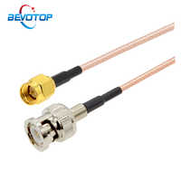 1 Uds de BNC a SMA Cable RG316 50 Ohm Pigtail SMA macho a BNC macho, Cable Coaxial de extensión RF, Cable de puente Coaxial 15CM al por mayor