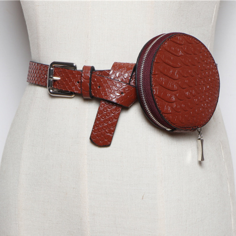 LANMREM 2020 Small Bag Female Wild Messenger Bag Stone Pattern PU Fashion Small Round Bag Mini Pockets PC229