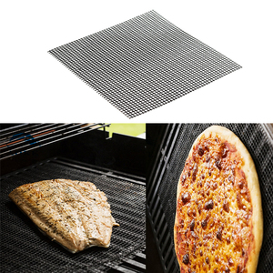 Image 3 - Security Grid BBQ Mat With Heat Resistance BBQ Mesh Grill Mat Non stick Barbecue Grilling Mats Baking Mat For Outdoor Activities