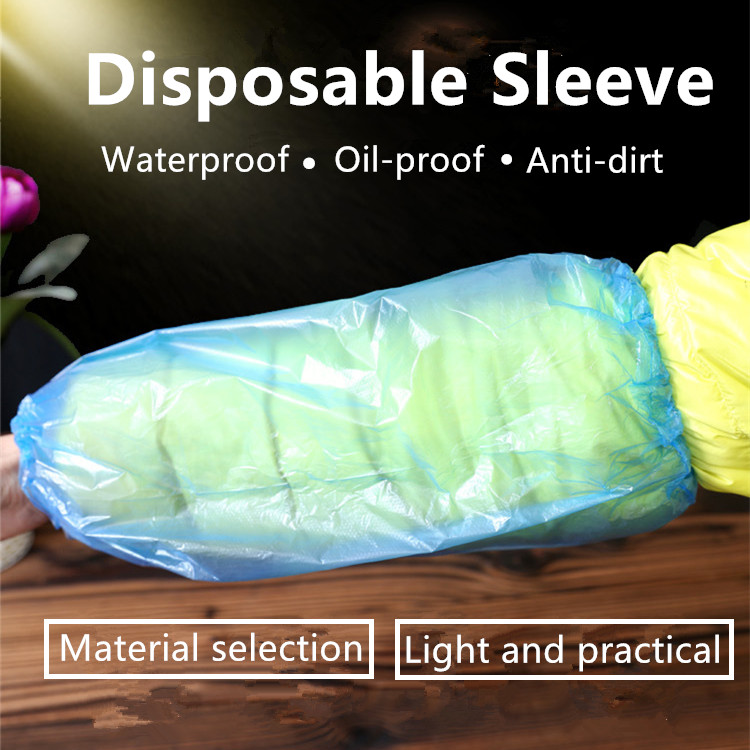 100 / Pack Waterproof And Oil-proof Disposable Arm Sleeves Elastic Bands Household Cleaning Supplies Long Sleeve Sleeves