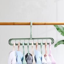 Анти-скольжения 9 лунок 360 Вращающийся Пластик Одежда Висячие стеллажи для выставки товаров вешалка для сортировки сушилка крюк шкаф Организатор