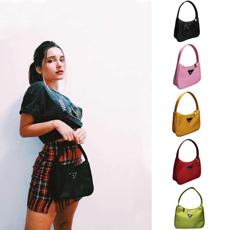 Retro Tas Bahu untuk Wanita Trendi Vintage Nilon Tas Wanita Kecil Subaxillary Tas Kasual Retro Mini Tas Bahu Bella 180
