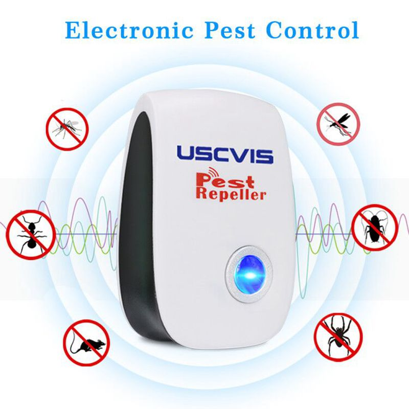 Free Shipping Home Ultrasonic Pest Repeller Electronic Pest Control Pest Repellent For Mosquitos,flies