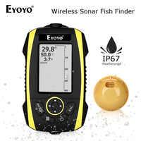 Eyoyo 2.4 Wireless Fish Finder Leggibile alla luce solare Portatile Fishfinder A colori TFT 147ft/45m di Profondità Sonar Rivelatore Ricaricabile