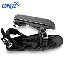 COPOZZ hiver patins de Ski Mini chaussures de neige portables fixations réglables neige les chaussures de Ski de voyage en plein air courtes
