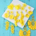 Flatfoosie Sommer Gelb Quaste Blume Erklärung Ohrringe Für Frauen Handmade Baumeln Ohrringe Hochzeit 2019 Weibliche Schmuck