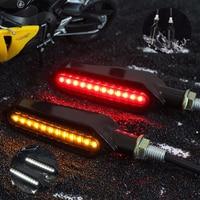 2 pcs led 오토바이 차례 신호 3 사용 흐르는 물 빛 빨간색 브레이크 램프 흰색 drl 표시기 깜박임 깜박임