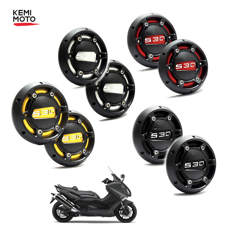 KEMiMOTO 2PCS for TMAX 530 500 Motorcycle CNC Engine Stator Cover Guard For Yamaha 530 2012-2014 2015 2016 T MAX 500 2008-2011