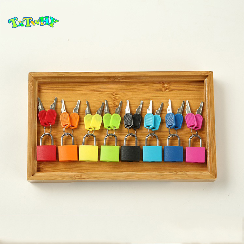 Wooden Montessori Tray Locks Set Educational Sensory Toys Practical Life Material Educational Wooden Toys For Children Learning
