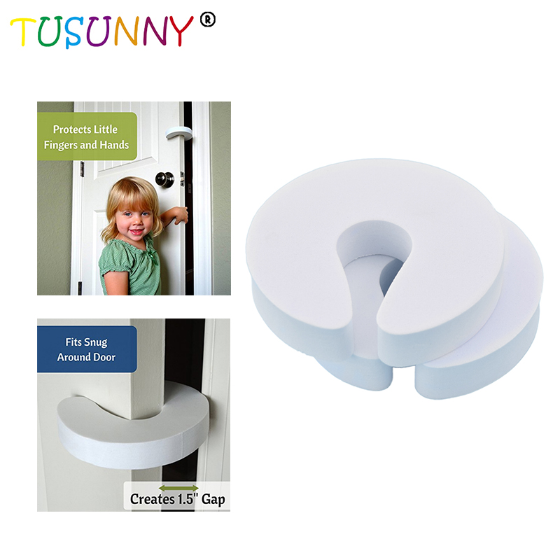 TUSUNNY 4 Pcs Lot Child Baby Cartoon Jammers Stop Door Baby protection stopper holder lock Safety Guard Finger Protect94*92*18mm