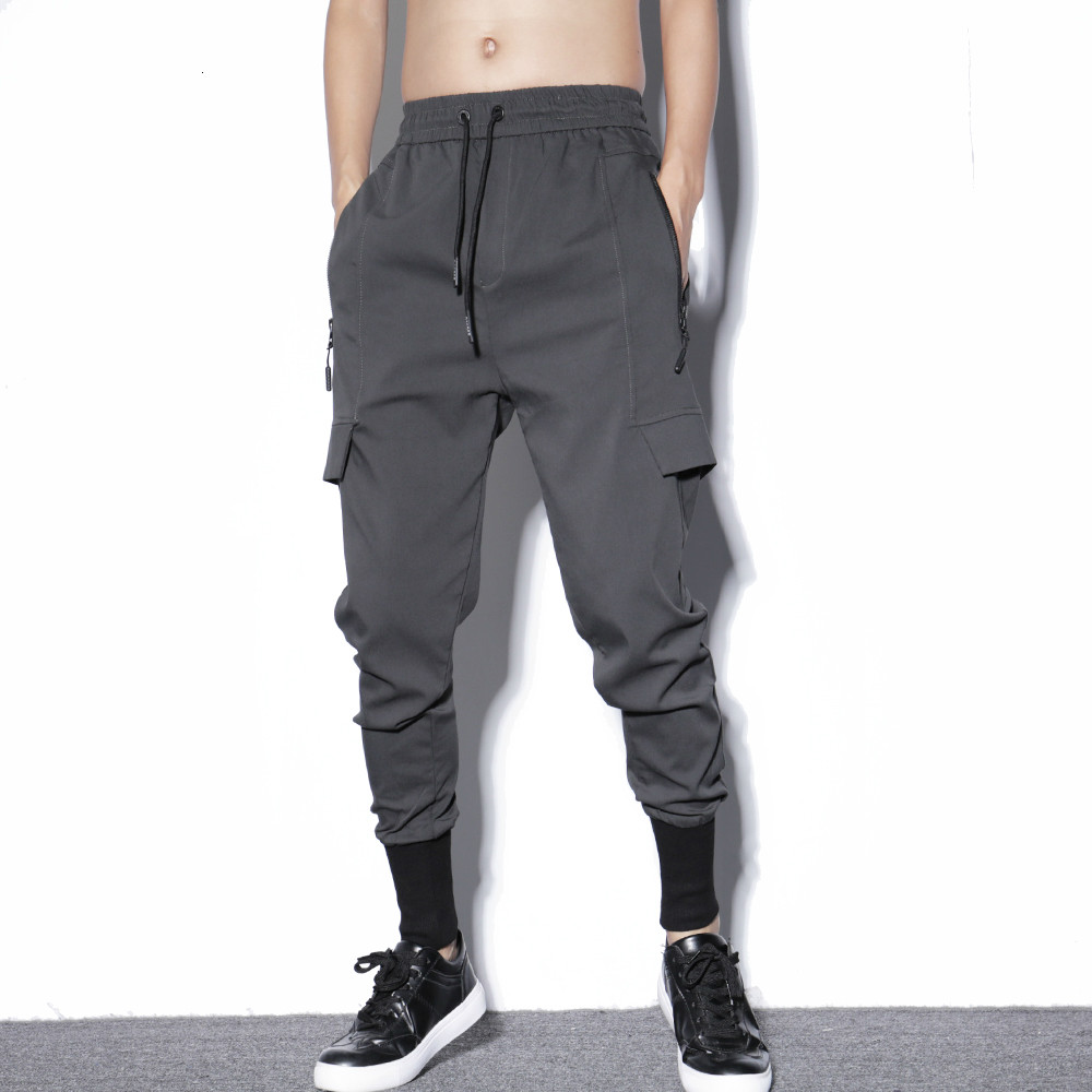 Men Elastic Waist Loose Harem Pant Male Streetwear Hip Hop Cargo Casual Trousers Joggers Sweatpants Boot Pants