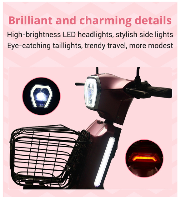 Electric Motorcycle Lithium Battery High-Endurance Moto Electrica High-Speed Electric Motorcycle Scooter Motor Moped Ebike 3
