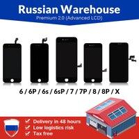 Armazém russo para iphonex 6 s mais tela lcd nova tianma premium com tela de toque para iphone 7 8 plus display lcd