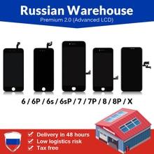 Rus depo için iPhone 6 6S artı LCD ekran yeni Tianma Premium için dokunmatik ekran ile iPhone 7 8 artı LCD ekran