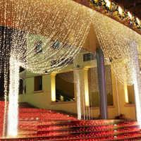 3X3M LED rideau lumière chaîne fée lumières 300 LED DC 36V fenêtre lumières avec prise d'alimentation étanche intérieur/extérieur jardin fête de noël décoration de mariage