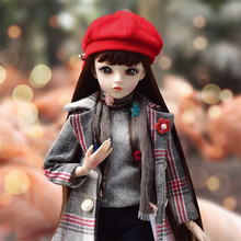 Muñeca Reborn de vinilo con abrigo para niños, juguete de muñeca de 60cm, SD/BJD, Super princesa
