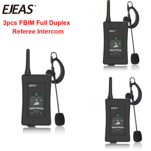 Image 1 - 3pcs Latest EJEAS Brand FBIM Football Soccer Referee Motorcycle Bluetooth Intercom Full Duplex BT Referee Headset with FM Radio