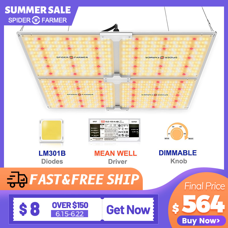Spider Farmer SF 4000W LED Grow Light Samsung LM301B Diodes Dimmable Full Spectrum Grow Lights For Indoor All Stage Veg Flower
