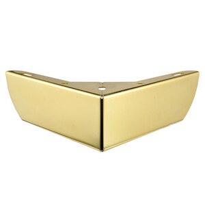 Image 1 - 4pcs זהב מתכת ריהוט רגליים עם גומי רגליים כרית ארון שולחן רגליים חומרת ספה ריהוט רגל רמה