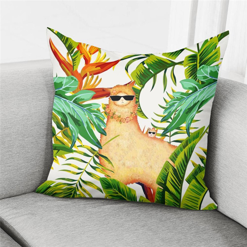 HUGSIDEA Muslim Islamic Girl Throw Pillow Case Cover Polyester Cushion Cover Home Decorative Removable Pillow Cover for Sofa Car