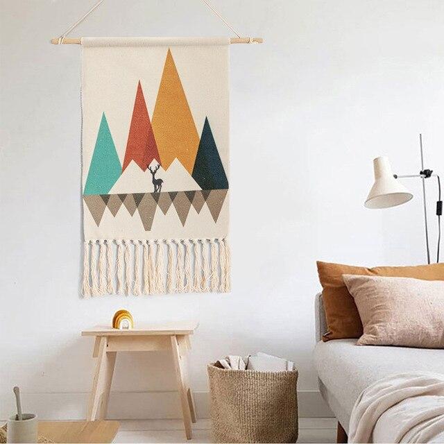 Home Boho Tasseled Tapestry 5