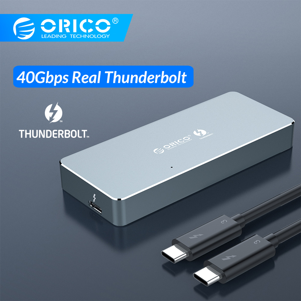 ORICO Thunderbolt 3 40Gbps NVME M.2 SSD Enclosure 2TB Aluminum Type-C With 40Gbps Thunderbolt 3 C To C Cable For Mac Windows