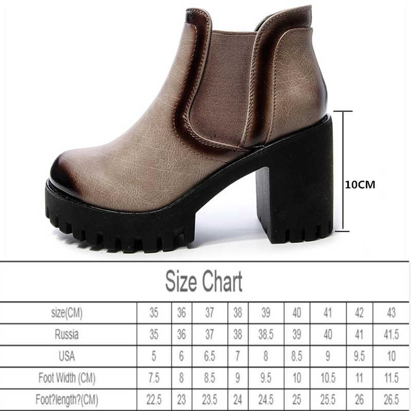 Yüksek topuk kadın 2020 bahar newAIYUQI Martin çizmeler kadın İngiliz vahşi kalın topuk kadın ayakkabısı rahat bayan yarım çizmeler