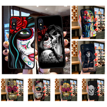 NBDRUICAI Hot Catrinas and skull Fashion Soft Phone Case for iPhone 11 pro XS MAX 8 7 6 6S Plus X 5S SE XR case(China)