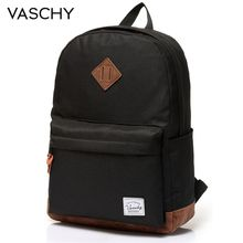 Backpack for Men and Women VASCHY Unisex Classic Water Resistant Rucksack School 14Inch Laptop TeenageR