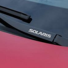 Металлическая Эмблема, светоотражающие наклейки для автомобильного декора, наклейки на окна автомобиля, стеклоочистителя для Hyundai SOLARIS elantra...