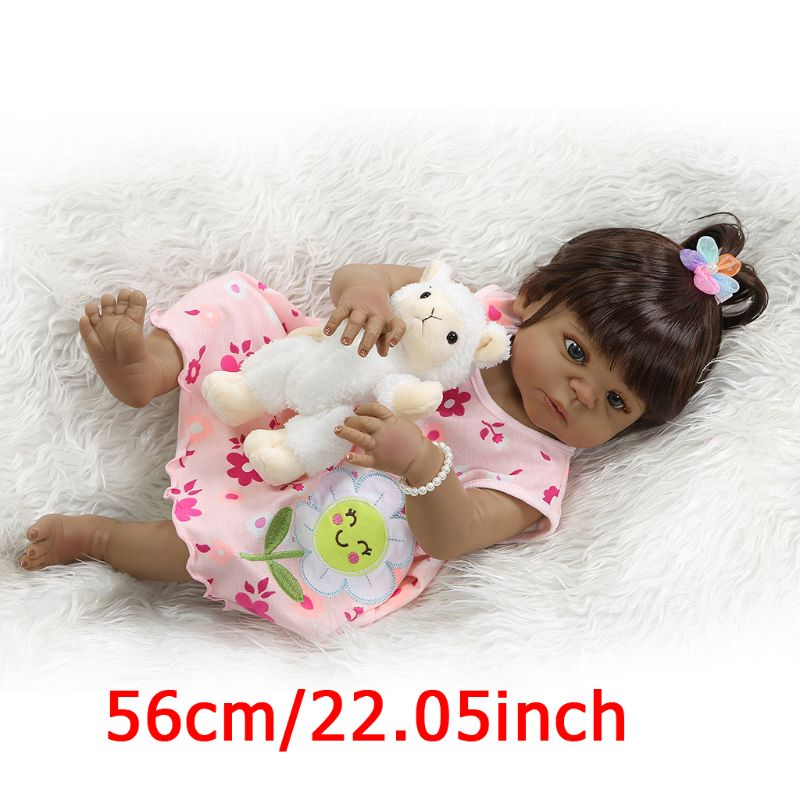 20in réaliste Reborn poupée souple pleine Silicone vinyle nouveau-né bébés singe réaliste à la main jouet enfants cadeaux d'anniversaire Y4QA
