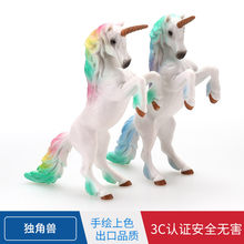 Fairy Tale Myth Toy Animals Model Color Unicorn genius ma Bakery Cake Decorations And Ornaments Gift(China)