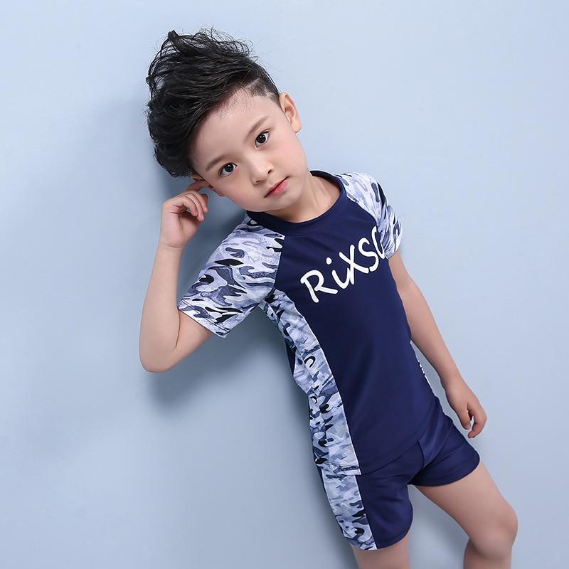 2019 New Style BOY'S Swimsuit Split Type Set Beach Sun-resistant Baby Big Boy Bathing Suit KID'S Swimwear Men's