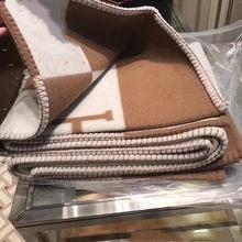 Carta marca lã cobertor de malha macio xale sofá cama cobertor fio tingimento h xadrez conforto cobertor 130*180cm