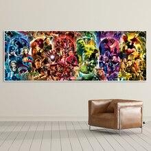 Бесконечность Сага-Marvel кинематографическая Вселенная стены искусства плакат Мстители эндигра Картина на холсте HD Печать комнаты картины интерьерные