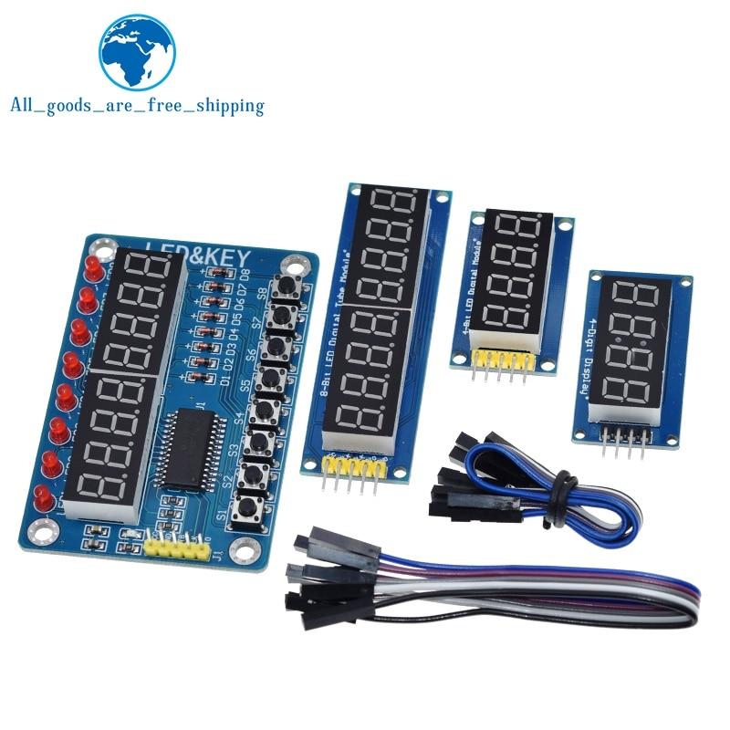 TM1637 4 Bits / TM1638 / 74HC595 8 bit Digital LED Display Module 7 Segment 0.36Inch Clock RED Anode Tube Four Serial Driver