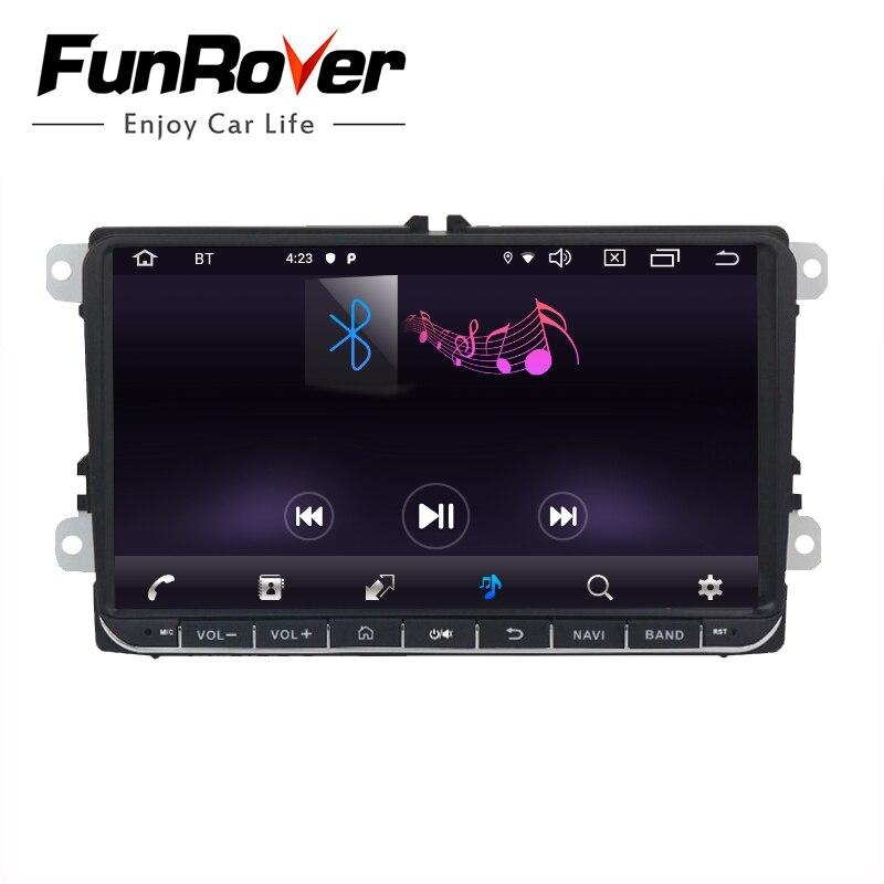 Funrover Android 9.0 DSP 2 din Car dvd gps Radio video per Volkswagen Passat CC Polo golf5 6 Touran EOS t5 Sharan Tiguan RDS BT - 5