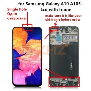 Image 2 - 삼성 갤럭시 A10 Lcd 2019 A105 A105F SM A105F 디스플레이 터치 스크린 디지타이저 삼성 a10 화면 수리 부품에 대 한 프레임