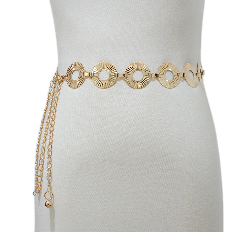 Louis Vuitton 2020 New Fashion Ladies Belt Beautiful Elegant Women's Fashion Metal Disc Decoration Waist Chain Bg-1491