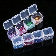 Коробка для алмазной вышивки, регулируемая, сделай сам, ручная роспись, алмазные аксессуары, инструменты для красоты ногтей, 28 сеток, коробка для хранения, Органайзер