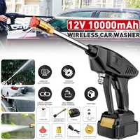 200W High Pressure Washer Machine Handheld Auto Spray Powerful Car Washer Garden Nozzle Water Pump with 10000mAh Battery