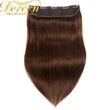 Doreen#1# 1b#2#4#8, 100 г, 120 г, Коричневые Бразильские Человеческие волосы Remy на заколках для наращивания, 16-22 дюйма