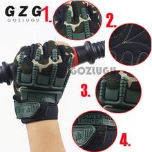 Fingerless-Gloves Knuckle Half-Finger Tactical Military Kids Anti-Skid Rubber Boys Armed