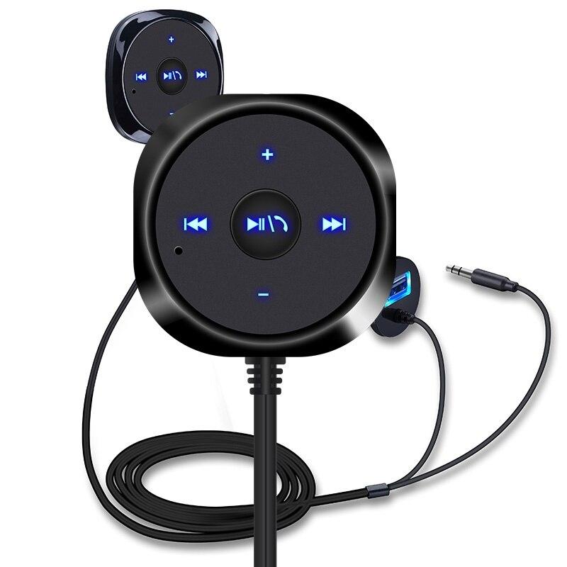 Convenient USB Car Bluetooth Kit Handsfree Telephone System Receiver Bluetooth Player FM Transmitter
