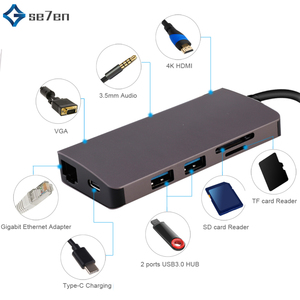 USB HUB 9 in 1 Thunderbolt 3 T