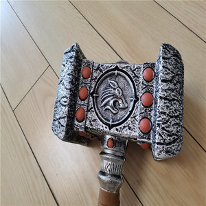 2 Style Destroy Thor Hammer Cosplay 1:1 Model Prop Hammer Weapon Holiday Gift Game Role Playing Safety PU Material Toy 54cm