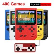 Портативная портативная игровая мини консоль в стиле ретро, батарея 500 мАч, цветной ЖК дисплей 3,0 дюйма, цветная игровая консоль для детей, 400 встроенных игр