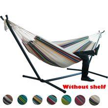 Hamak rede dupla ao ar livre portátil pano de pára-quedas 2 pessoa rede jardim pendurado cadeira dormir viagem balanço hamac 2021