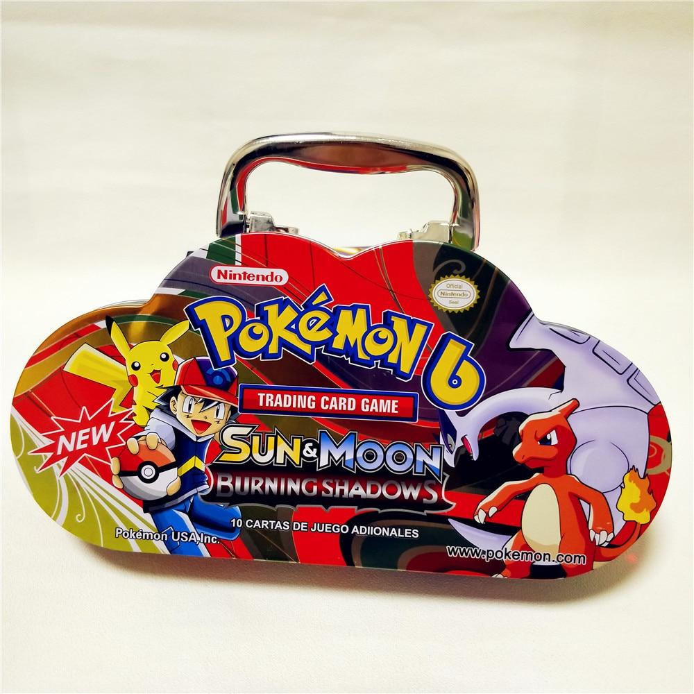 87 Pcs  Pokemon Portable Tin Box TAKARA TOMY Battle Toy Hobby Collectibles Game Collection Kids Moving